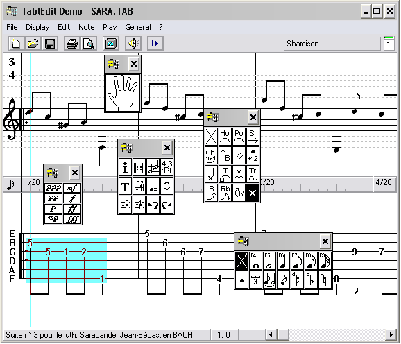 TablEdit Tablature Editor - Full History